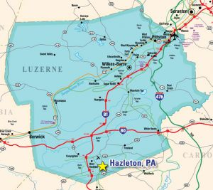 Hazleton is located in Luzerne County, Pennsylvania.