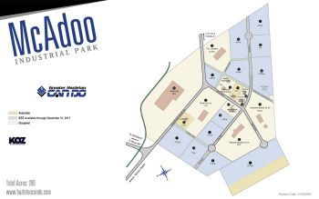 Map of McAdoo Industrial Park.