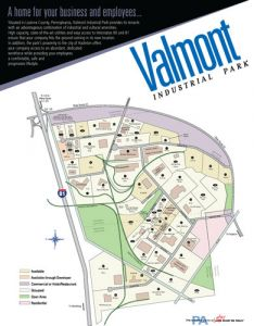Brochure of Valmont Industrial Park.